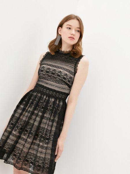 Вечернее платье черное весеннее Soky & Soka
