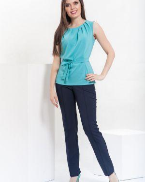 Зауженные классические брюки - синие Modellos