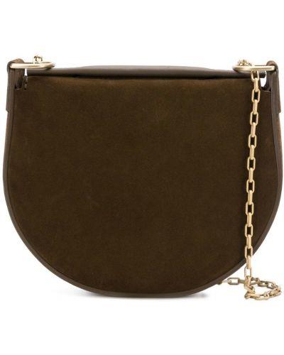 Кожаная сумка на цепочке с леопардовым принтом Stiebich & Rieth