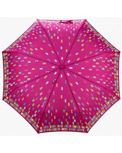 Фиолетовый складной зонт Moschino
