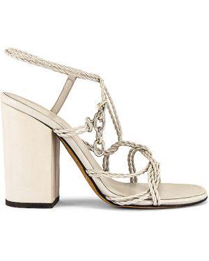 Szare sandały skorzane kopertowe Alumnae
