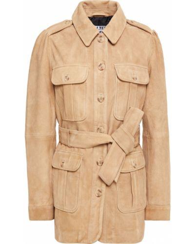 Замшевая бежевая куртка с подкладкой Walter Baker
