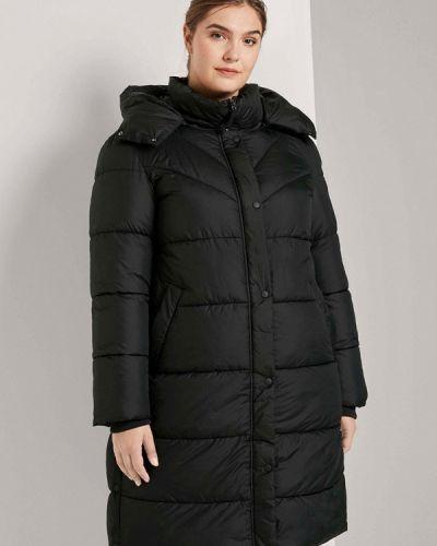Утепленная черная куртка Tom Tailor