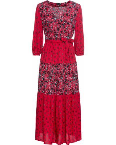 Платье на резинке пэчворк Bonprix
