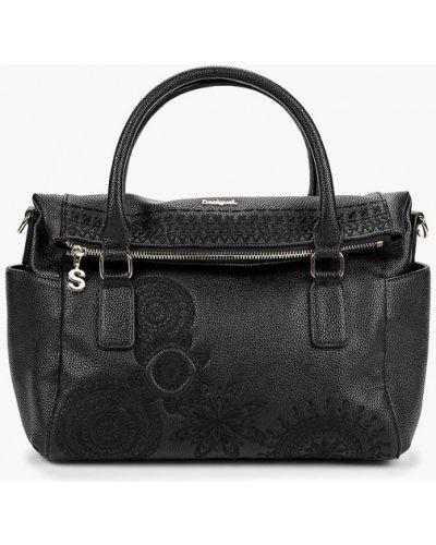 Кожаный сумка с ручками черный Desigual