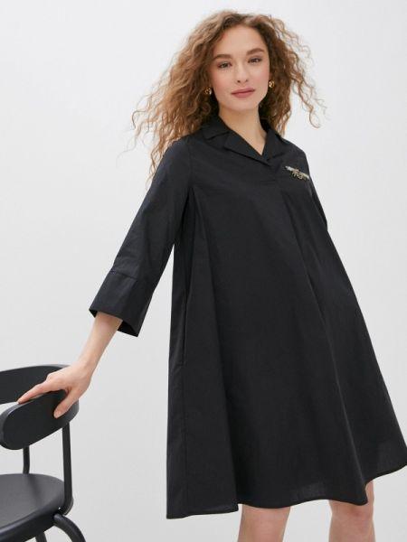 Платье платье-рубашка черное Savage