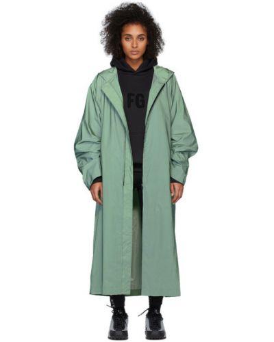 Zielony z rękawami płaszcz przeciwdeszczowy od płaszcza przeciwdeszczowego z kieszeniami Fear Of God