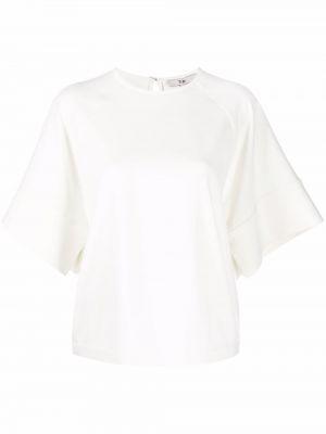 Biała satynowa bluzka Tibi