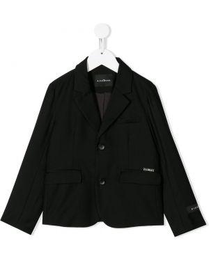 Пиджак с логотипом черный John Richmond Junior