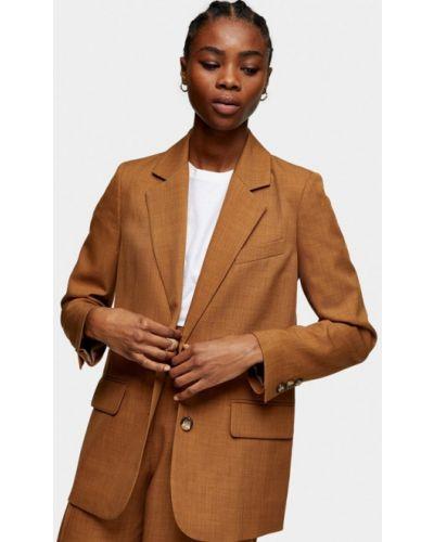Коричневый пиджак Topshop