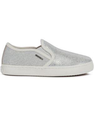 Skórzane sneakersy zamszowe tekstylne Geox