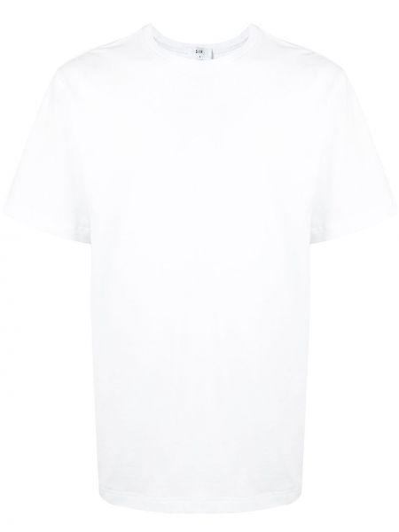 Прямая белая хлопковая футболка с круглым вырезом Sir.