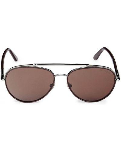 Солнцезащитные очки металлические - коричневые Tom Ford