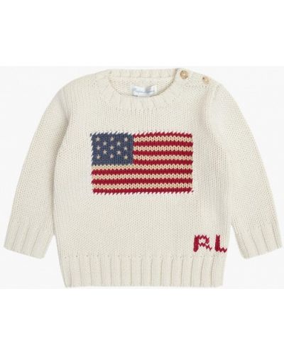 Белый свитер Polo Ralph Lauren