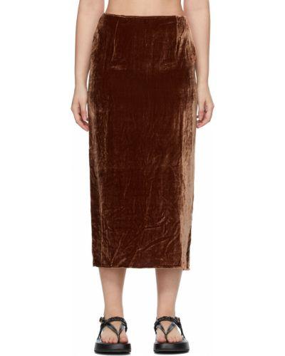 Бархатная юбка - коричневая Georgia Alice