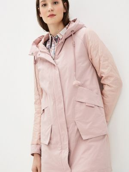 Теплая розовая утепленная куртка Clasna