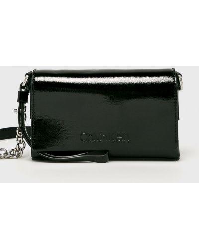 Черная сумка через плечо с перьями Calvin Klein