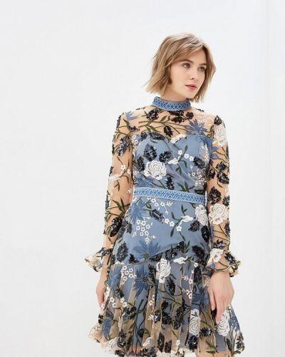 Вечернее платье голубой декаданс True Decadence