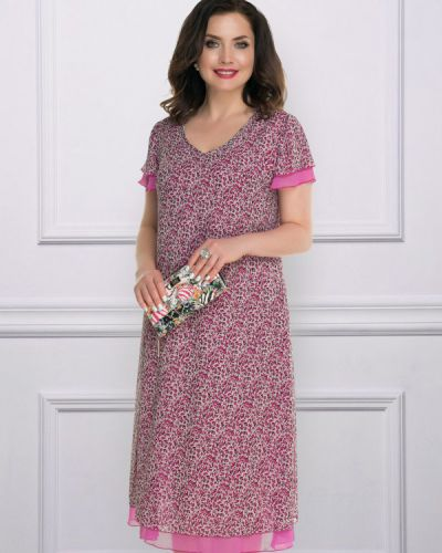 Летнее платье розовое миди Charutti