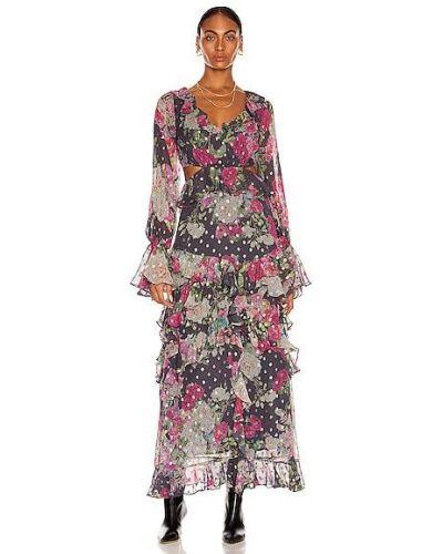Шифоновое платье макси - фиолетовое Rococo Sand