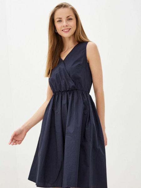 Платье синее прямое Baon