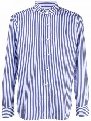 Niebieska koszula z printem Borrelli