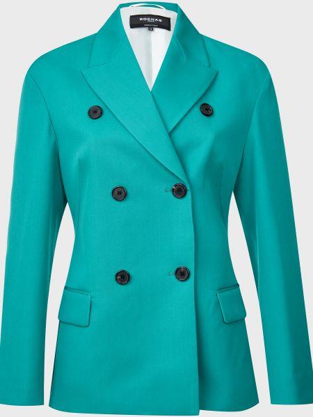 Зеленый шерстяной пиджак на пуговицах Rochas