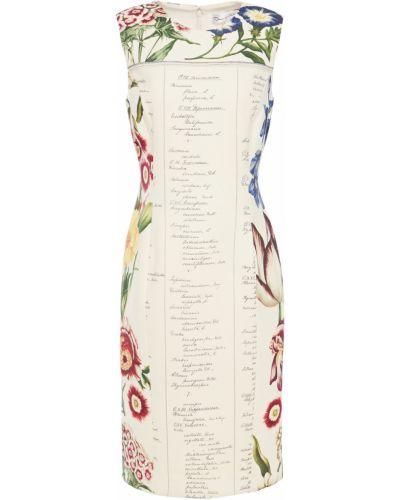 Шерстяное платье - бежевое Oscar De La Renta