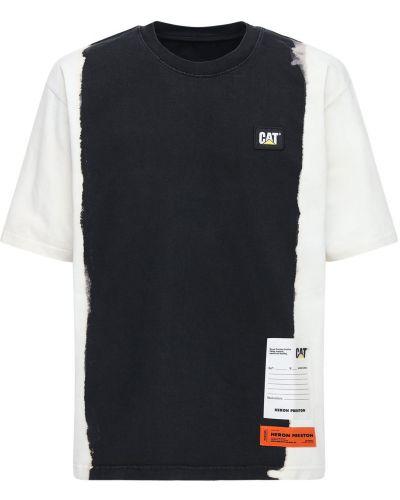 Bawełna bawełna koszula z łatami Heron Preston