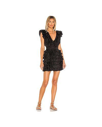 Черное платье мини на молнии из вискозы с подкладкой Majorelle