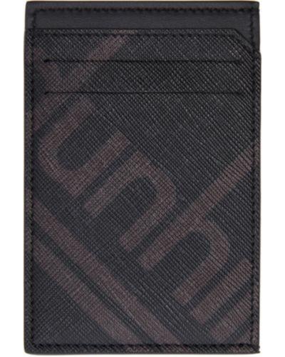 Skórzany czarny walizka prążkowany z gniazdem Dunhill