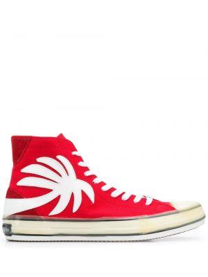 Brezentowy wysoki sneakersy okrągły nos okrągły zasznurować Palm Angels