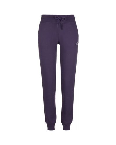 Спортивные прямые хлопковые фиолетовые спортивные брюки Kappa