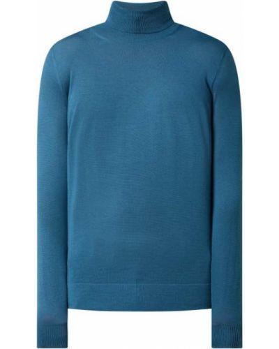 Sweter wełniany - turkusowy Strellson