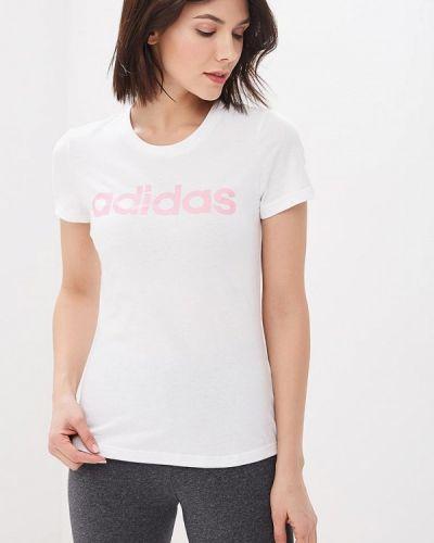 Поло белое Adidas