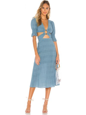 Синее платье на молнии Tularosa