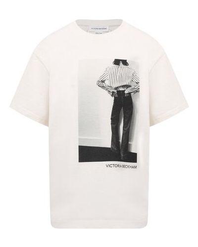 Хлопковая футболка Victoria Beckham
