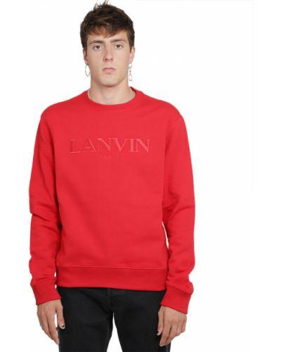 Czerwony sweter Lanvin