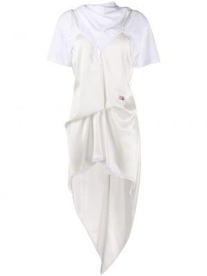 Sukienka mini bawełniana - biała Alexander Wang