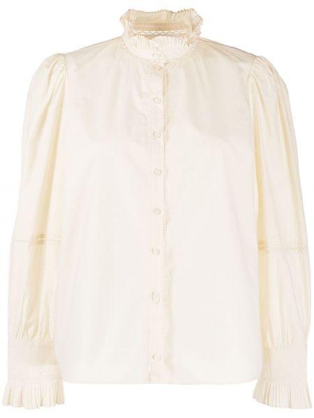 С рукавами белая рубашка с воротником Ba&sh