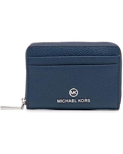 Синяя кожаная ключница Michael Michael Kors