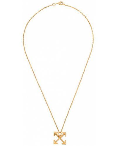 Ожерелье из золота золотой Off-white