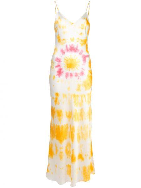 Pomarańczowa sukienka z jedwabiu z printem Dannijo