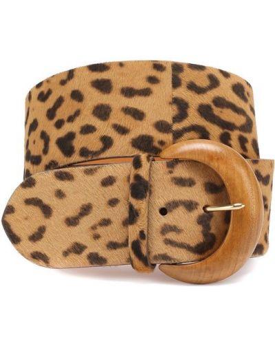 Ремень леопардовый с пряжкой Ralph Lauren