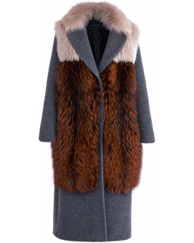 Пальто серое шерстяное Blancha