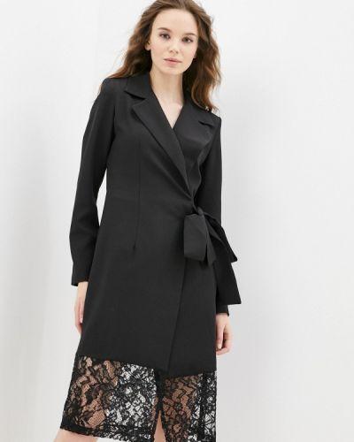 Черное весеннее платье Adzhedo