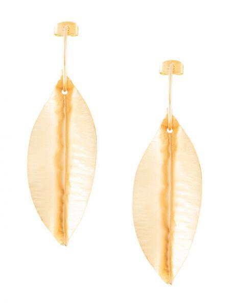 Złote kolczyki sztyfty Mercedes Salazar
