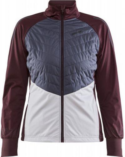 Приталенная красная куртка для бега Craft