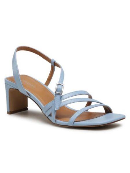 Sandały na obcasie - niebieskie Ccc