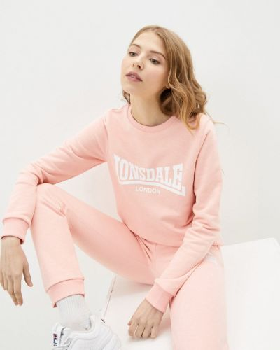 Розовый свитшот Lonsdale